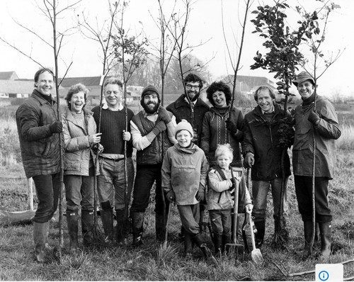 Tree planting in Monks Wood